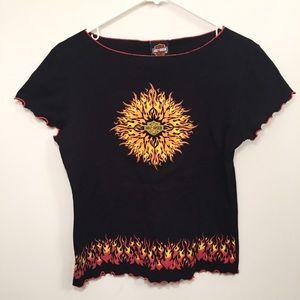 HARLEY DAVIDSON Flame Graphic Short Sleeve Shirt